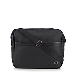 Fred Perry - Black logo plate cross body bag