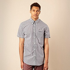 BEN SHERMAN - Navy gingham checked shirt