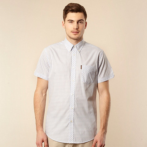 Ben Sherman - Big and tall light blue gingham checked shirt