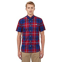 Fred Perry - Red and blue checked print shirt