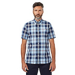 Fred Perry - Blue bold checked print regular fit shirt