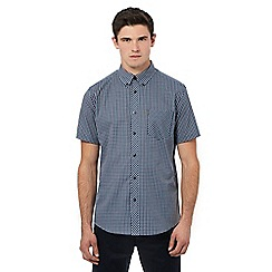 Ben Sherman - Blue short sleeve mini checked shirt