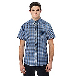 Ben Sherman - Blue short sleeve checked shirt