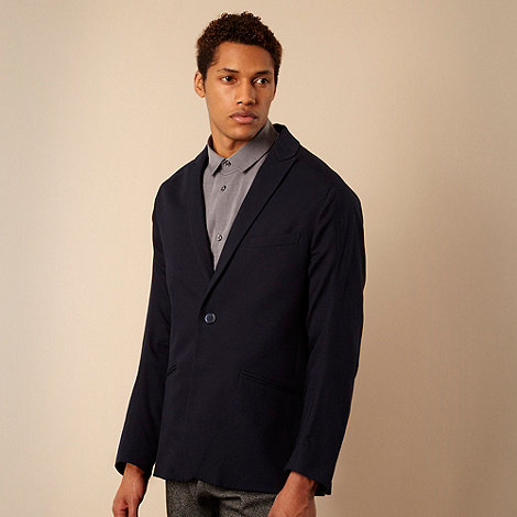 Ph.D - Navy lightweight canvas blazer jacket