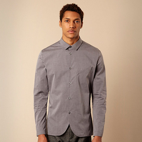 Ph.D - Grey slanted chest pocket shirt