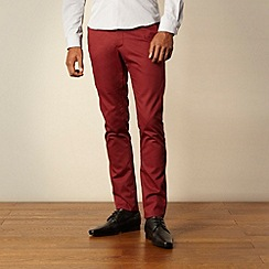 Ph.D - Red twill casual trousers