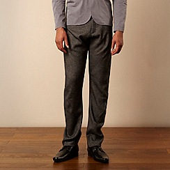 Ph.D - Dark grey textured effect trousers