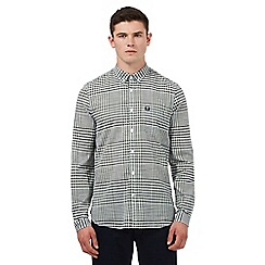 Fred Perry - Green gingham checked print regular fit shirt