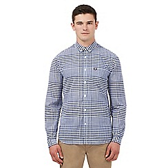 Fred Perry - Navy gingham checked print regular fit shirt