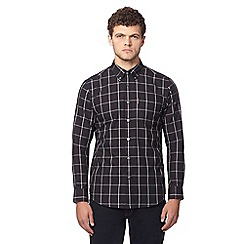 Ben Sherman - Black button down windowpane checked shirt