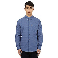 Ben Sherman - Big and tall blue button down checked shirt