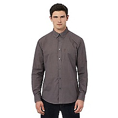 Ben Sherman - Dark red long sleeve mini gingham shirt
