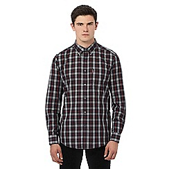 Ben Sherman - Navy long sleeve checked shirt