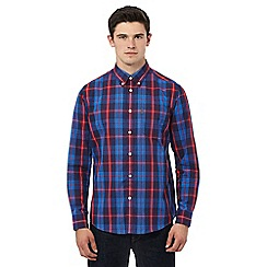 Ben Sherman - Blue long sleeve multi checked shirt