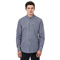 Ben Sherman - Big and tall purple checked long sleeve shirt