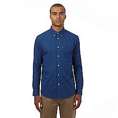Ben Sherman - Big and tall blue gingham polka dot regular fit shirt