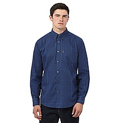 Ben Sherman - Navy long sleeve multi checked shirt