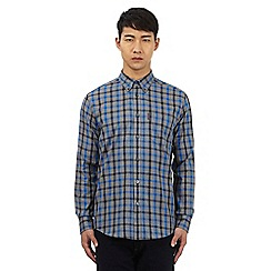 Ben Sherman - Big and tall grey button down check print shirt