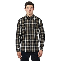 Ben Sherman - Dark green long sleeve checked shirt