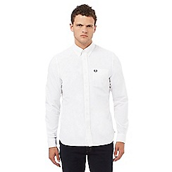 Fred Perry - White regular fit Oxford shirt