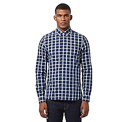 Fred Perry - Blue button down gingham shirt