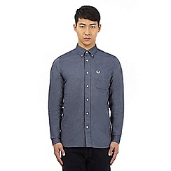 Fred Perry - Dark blue 'Oxford' button down shirt