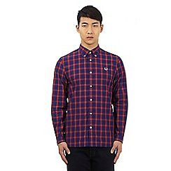 Fred Perry - Red button down check print shirt