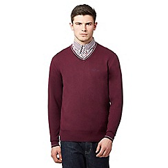 Ben Sherman - Dark pink V neck jumper