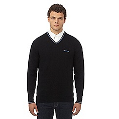 Ben Sherman - Big and tall black tipped v neck jumper