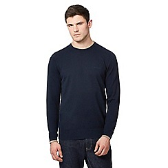 Ben Sherman - Mid blue crew neck jumper