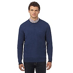 Ben Sherman - Big and tall mid blue crew neck jumper