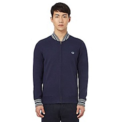 Fred Perry - Navy tipped bomber cardigan