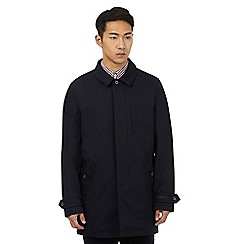 Ben Sherman - Big and tall navy quilted lined mac