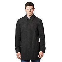 Ben Sherman - Big and tall grey wool blend coat