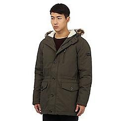 Ben Sherman - Big and tall dark green hooded parka