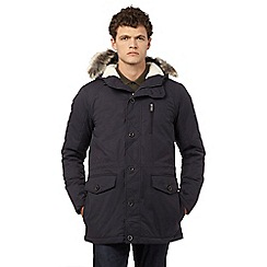 Ben Sherman - Navy faux fur hooded parka