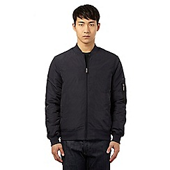 Ben Sherman - Big and tall navy three pocket bomber jacket