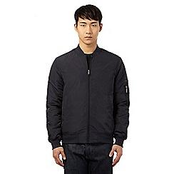 Ben Sherman - Big and tall navy three pocket bomber jacket