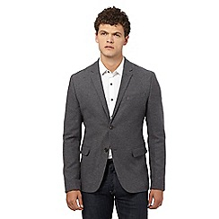 Ben Sherman - Big and tall grey wool rich herringbone jacket