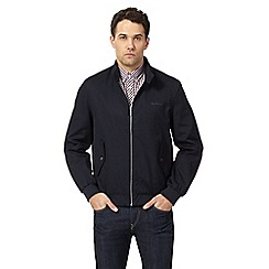 Ben Sherman - Big and tall navy harrington jacket