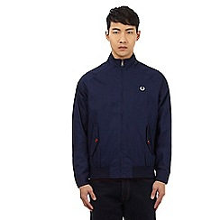 Fred Perry - Navy stitched logo Harrington jacket
