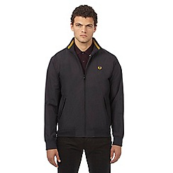 Fred Perry - Dark grey logo applique bomber jacket