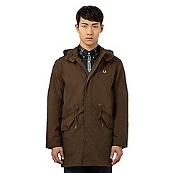 Fred Perry - Dark green fishtail parka jacket