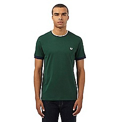 Fred Perry - Green tipped crew neck t-shirt