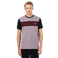 Fred Perry - Red twill jersey panel t-shirt