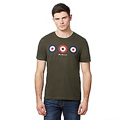 Ben Sherman - Dark green triple target print t-shirt