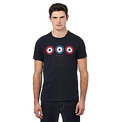 Ben Sherman - Navy triple target print t-shirt