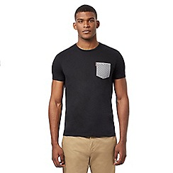 Ben Sherman - Big and tall black contrasting pocket t-shirt