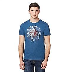 Ben Sherman - Blue target logo print t-shirt