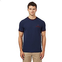 Fred Perry - Navy pique textured t-shirt